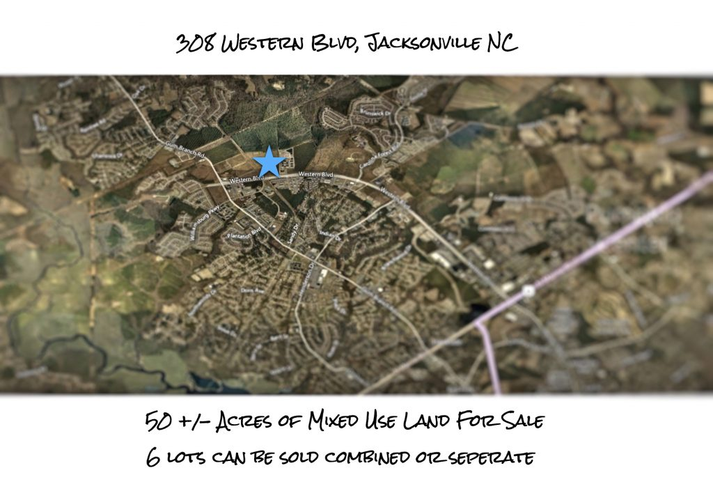 Jacksonville - 50 Acres Location Map