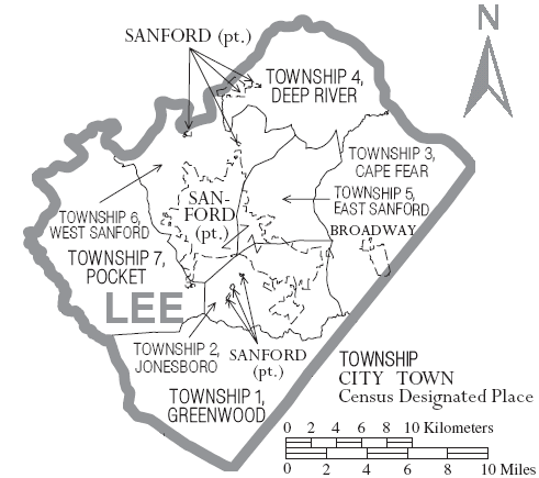 Map_of_Lee_County_North_Carolina_With_Municipal_and_Township_Labels