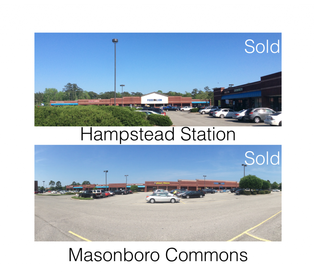 SALE ANNOUNCMENT Masonboro Commons and Hampstead Station